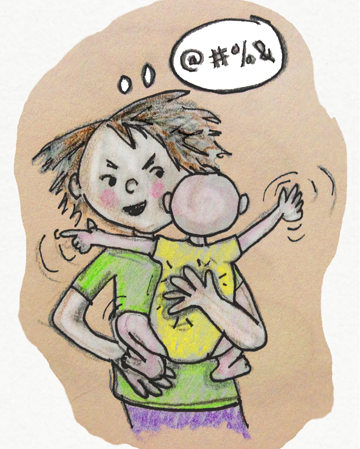 burping baby cartoon